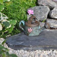 "* Rustic Water Can * 2"" L x 1"" H Miniature Fairy Garden Dollhouse Lotus Nib"