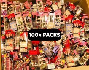 Lot of 100 NEW Kiss Nails Impress Press On Manicure Pedicure Random Assortment