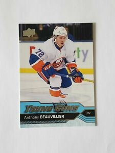 2016-17 upper deck Anthony Beauvillier young guns #220 yg islanders