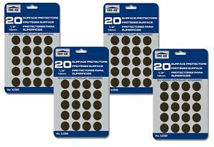 """Lot of 80 Surface Protectors 1/2"""" Round Felt 13mm (4 Packs)"""