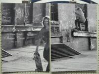 VOLCOM surf skateboard 2007 SHANE CROSS B&W 2 Side Poster Flawless New Old Stock