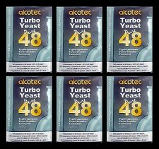 ALCOTEC 48 HOUR TURBO YEAST 6 PACK DISTILLERS YEAST 20% ALCOHOL WHISKEY STILL