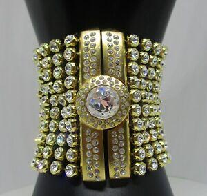 Genuine Signed Swarovski Crystal Statement Bracelet with over 250 Crystals