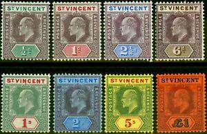 St Vincent 1904-11 Set of 8 SG85-93 Very Fine Lightly Mtd Mint
