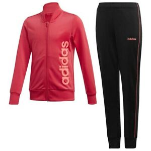 Adidas Girls Tracksuit Top Jogging Bottoms Jacket Track Training Pants Kids 5-14