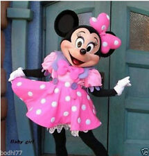 2015 HOT Crazy Sale Pink Minnie Mouse Mascot Costume Adult Sz Fancy Dress  @@@03