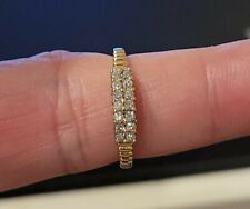 Band Ring 10k Yellow Gold Beautiful Everyday .50ct Natural Diamond Wedding