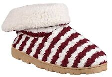 Divaz Womens/ladies Latvia Micro Fleece Padded SLIPPER Shoes Large Red