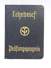 Lehrbrief Prüfungszeugnis 1951 German Old Document Certificate Original