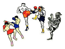 Muay Thai Applique Iron-On Patch MMA Embroidered Lot 3 Pcs for T Shirt Shorts