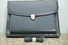 Black Leather Business Bag Brief Case NEW