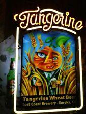 "New Tangerine Wheat Open Beer Bar Neon Light Sign 24""x20"""