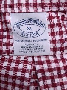 Brooks Brothers Regular Fit Non-iron Men's XL Button Down Long Sleeve Shirt