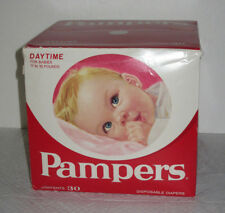 Vintage Pampers Daytime Diapers 11-16 lbs 30 Diapers New Unopened Box 1974 NOS