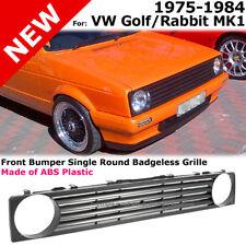 Front Badgeless Single Round Grille Black VW Golf Rabbit MK1 75-84 Cabriolet MK2
