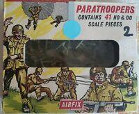 Airfix 1/72 World War TWO 41 Stück Paratroopers original aus 1970-er ! RARE