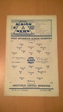 West Brom Reserves v Sheffield United Reserves 1966/67
