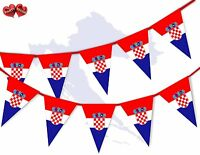 Croatia Full Flag Patriotic Themed Bunting Banner 15 Triangle flags National
