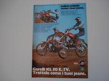 advertising Pubblicità 1975 MOTO GARELLI KL 50 E. 5V