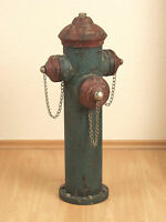 Hydrant aus Metall Standdeko Skulptur Figur Dekoobjekt Deko Antik-Stil