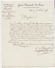 Auguste de CHOISEUL, document signé. 1817.