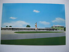 1950's GAS LITE MOTEL, LAWRENCEVILLE, ILLINOIS POSTCARD #2