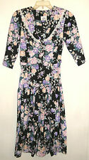 BYER TOO Rose Floral DRESS size 5 Country Prairie Cottage Chic VINTAGE