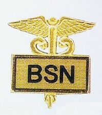 Inlaid Graduation Recognition Caduceus 3516G Bsn Bachelor Of Science Nurse Pin