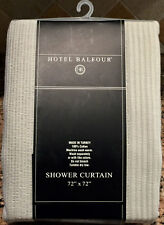 """Hotel Balfour Solid Gray Luxury 100% Cotton Fabric Shower Curtain 72x72"""""""