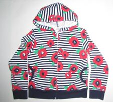 Gymboree Girls Cotton Blend Hoodie Stripe&Floral Print Size M (7-8)