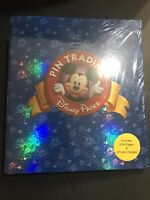 NWT Rare Disney Parks Pin Trading Binder Blue Book 3 Ring Mickey Mouse