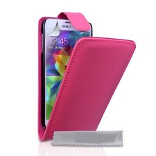 pink FLIP LEATHER PHONE CASE WITH CARD SLOT FOR SAMSUNG GALAXY S3 mini  UK SELL