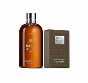 Molton Brown Re-charge Black Pepper Bath & Shower Gel + Bodyscrub Bar - NEW
