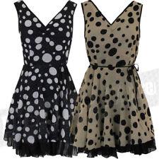 V-Neck Polka Dot Dresses for Women