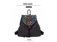 Luminous Backpack Diamond Lattice Bag Travel Geometric Fashion Bag Noctilucent B