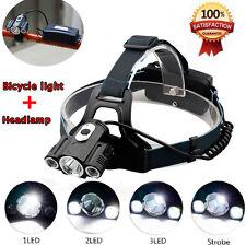 30000Lm Cree XM-L 3 x T6 LED Headlamp Headlight Skywolfeye Head Torch Bike Light