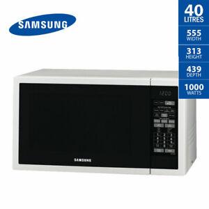 SAMSUNG Microwave Oven 40 Litre White Ceramic Interior ME6144W 1000W