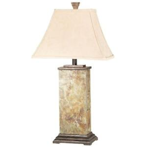 Bennington 29 in. Natural Slate Table Lamp by Kenroy Home