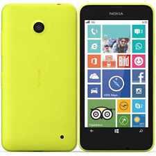 NUOVO Nokia Lumia 630 DUAL SIM GIALLO 8gb Sbloccato Windows Phone 1 anni di garanzia