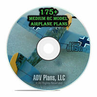 175+ Small Medium Scale RC Model Airplane Plans Templates, Scratch Build, CD F57