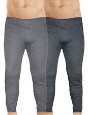 Herren Thermo Unterhose 2er Pack grau lange Winter Skihose Fleece Leggings