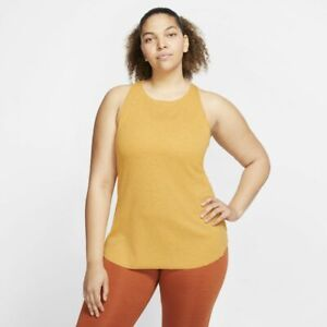 NWT Nike Women's Ribbed Tank Top Yoga Luxe Tank Plus Size 2X MSRP $45 CV9021-738
