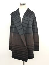 Cynthia Rowley Women's Large 8 10 Merino Wool Blend Black Brown Hood Sweater