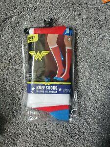 Wonder Woman Knee Socks With Cape
