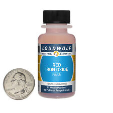 Iron Oxide Red 1 Ounce Bottle 997 Pure Reagent Grade 25 Micron Powder