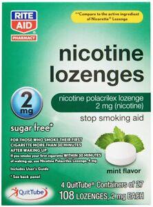 Rite Aid Mint Nicotine Lozenges, 2mg - 108 Lozenges | Mint Flavor | Quit...