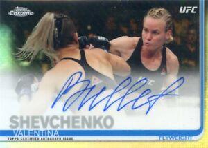 2019 Topps UFC Chrome VALENTINA SHEVCHENKO Bullet Refractor Auto Autograph FA-VS