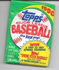 1990 Topps Baseball Trading Cards Unopened Pack Of 16 MLB Vintage
