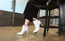 $178 Raye White Congo Ankle Boots / Booties sz 7