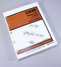 J I Case Model 1070 Tractor Sn 8675001 Amp Up Parts Catalog Manual A1173